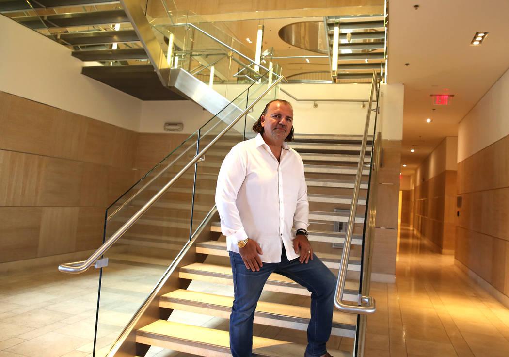 Investor Ofir Hagay inside his building at 8912 W. Spanish Ridge Ave. in Las Vegas, Thursday, Nov. 22, 2017. Bizuayehu Tesfaye Las Vegas Review-Journal @bizutesfaye