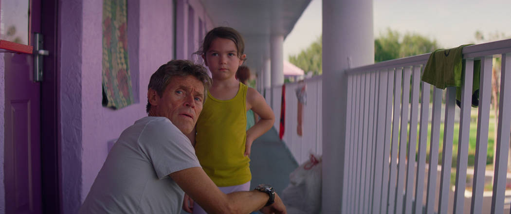 """Willem Dafoe and Brooklynn Prince in """"The Florida Project"""" (A24)"""