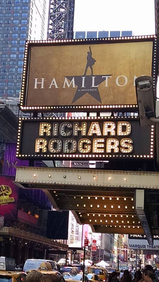 """Hamilton,"" the hottest ticket in town, at New York's Richard Rogers Theatre. (Marty Berry)"