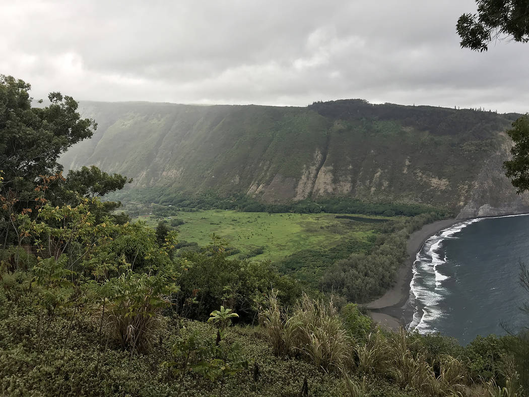 "The Waipio Valley Lookout along the Hamakua Coast was the sacred boyhood home of King Kamehameha I. ""The Valley of the Kings"" a mile across and stretches 5 miles inland, surround ..."