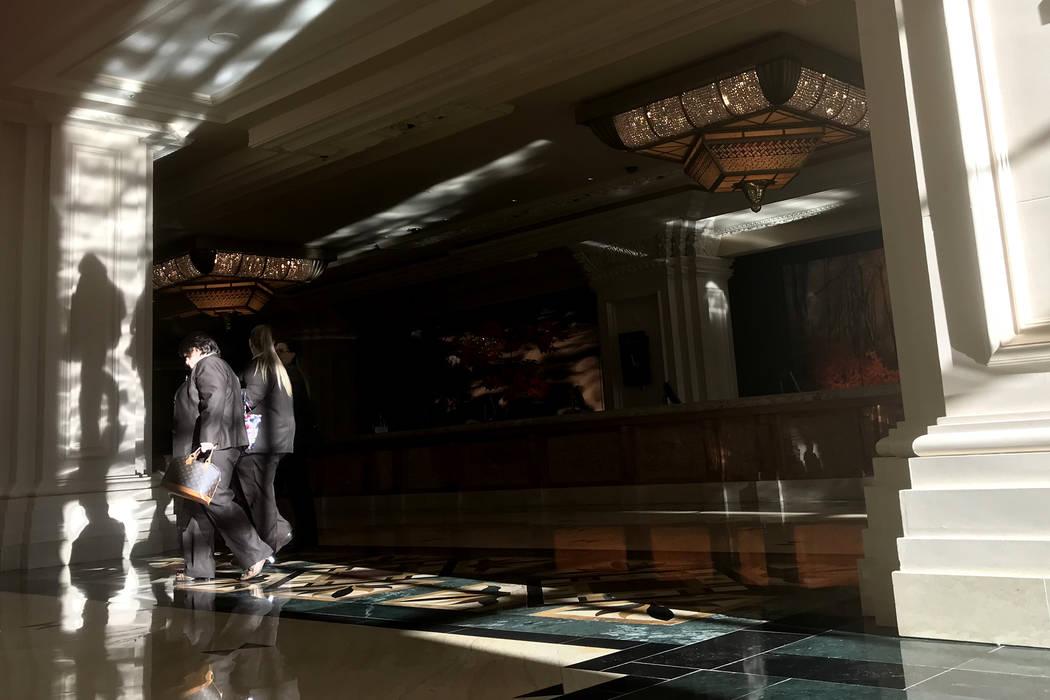 Employees pass through a lobby area at Mandalay Bay hotel-casino in Las Vegas, Tuesday, Nov. 28, 2017. Bridget Bennett Las Vegas Review-Journal