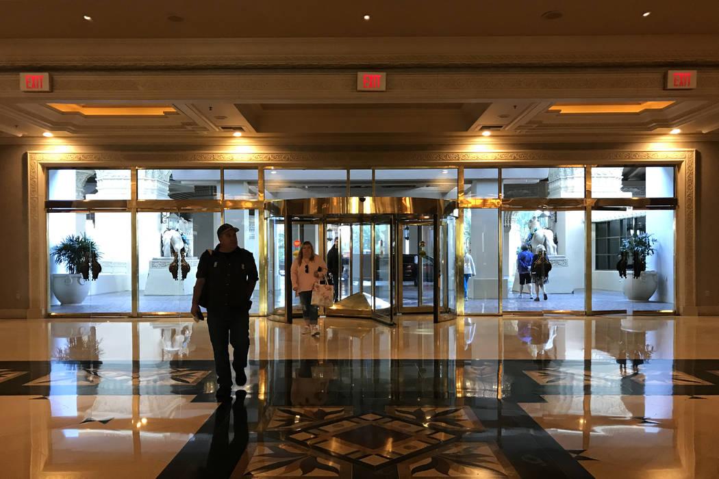 Visitors enter Mandalay Bay hotel-casino in Las Vegas, Tuesday, Nov. 28, 2017. Bridget Bennett Las Vegas Review-Journal