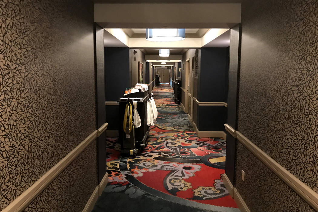 Hotel hallways are quiet during an afternoon at Mandalay Bay hotel-casino in Las Vegas, Tuesday, Nov. 28, 2017. Bridget Bennett Las Vegas Review-Journal