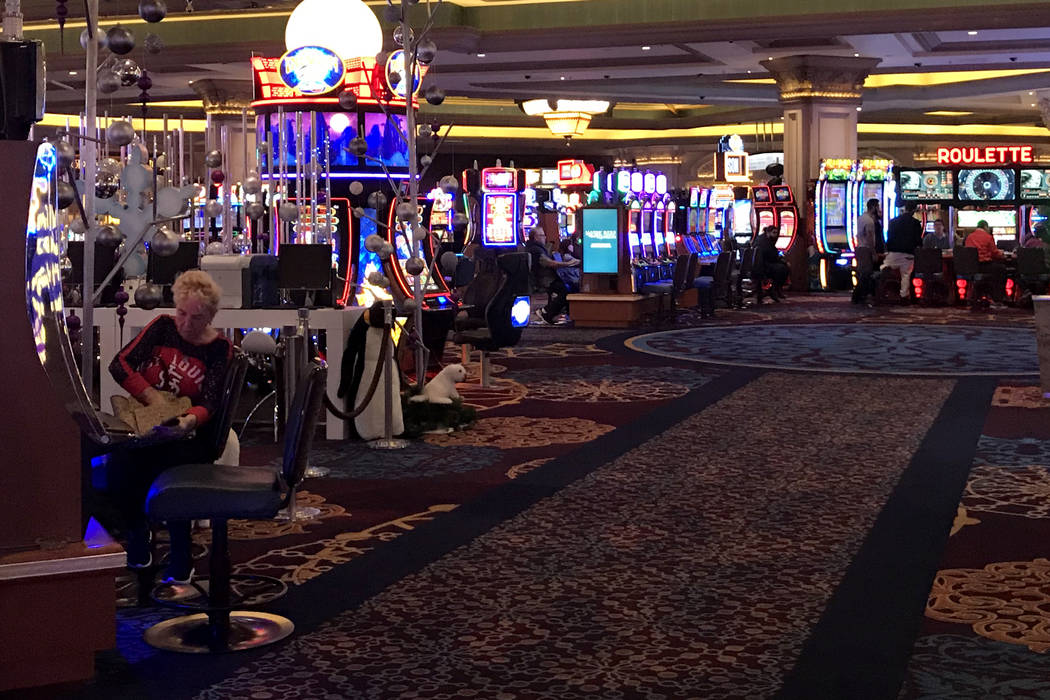 Patrons play slots and other machines at Mandalay Bay hotel-casino in Las Vegas, Tuesday, Nov. 28, 2017. Bridget Bennett Las Vegas Review-Journal