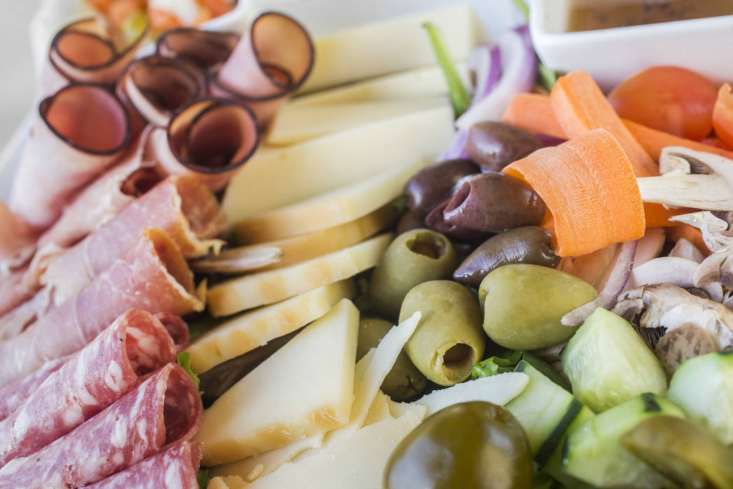Cold antipasto platter with Italian meats, imported cheeses, olives and vegetables served with Mediterranean dip at Anna Marie's Italian Cuisine on Friday, Nov. 24, 2017, in Las Vegas. Benjamin Ha ...