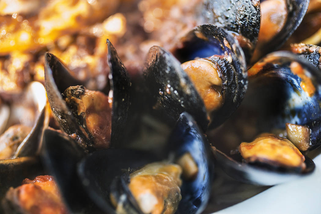 Mussels in the seafood combo at Anna Marie's Italian Cuisine on Friday, Nov. 24, 2017, in Las Vegas. Benjamin Hager Las Vegas Review-Journal @benjaminhphoto