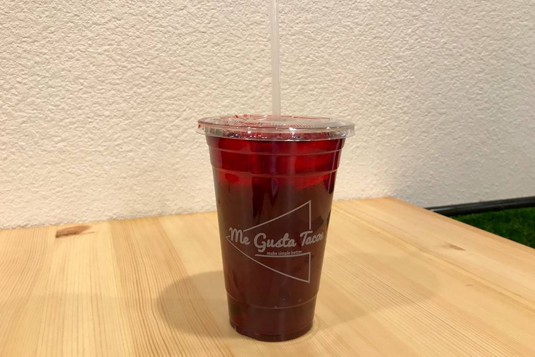 Hibiscus agua fresca ($3.50) at Me Gusta Tacos in Las Vegas, Sunday, Nov. 19, 2017. (Madelyn Reese/View) @MadelynGReese