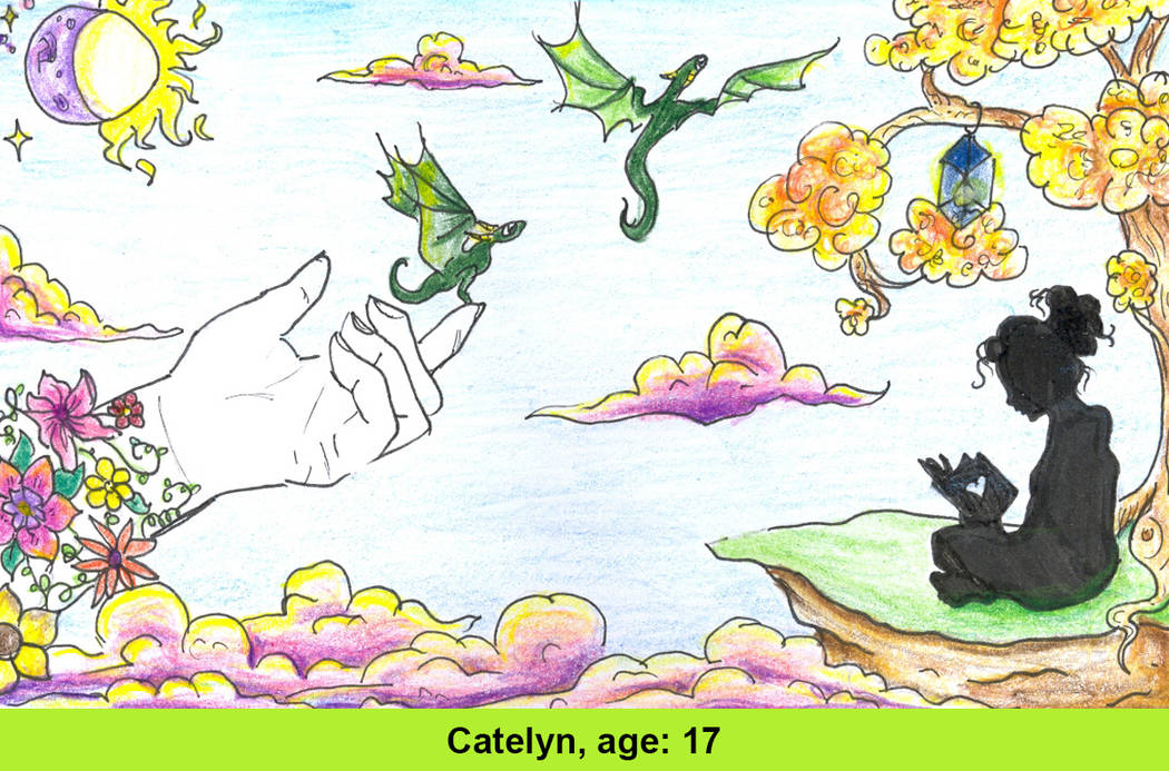 Catelyn Kaufman, 17, was one of the six winners whose design was selected as part of the Las Vegas-Clark County Library District's #GetCarded contest. (Catelyn Kaufman)