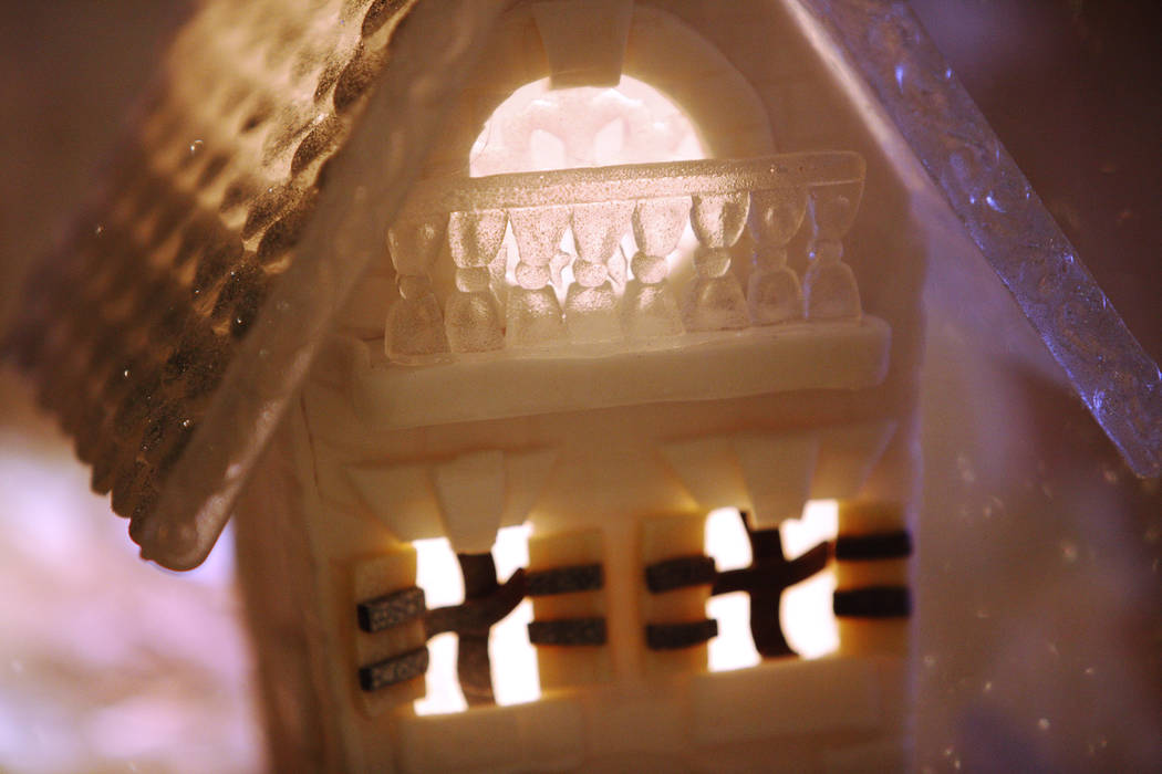 A house made of sugar at the winter village at the Four Seasons in Las Vegas, Wednesday, Nov. 22, 2017. Rachel Aston Las Vegas Review-Journal @rookie__rae