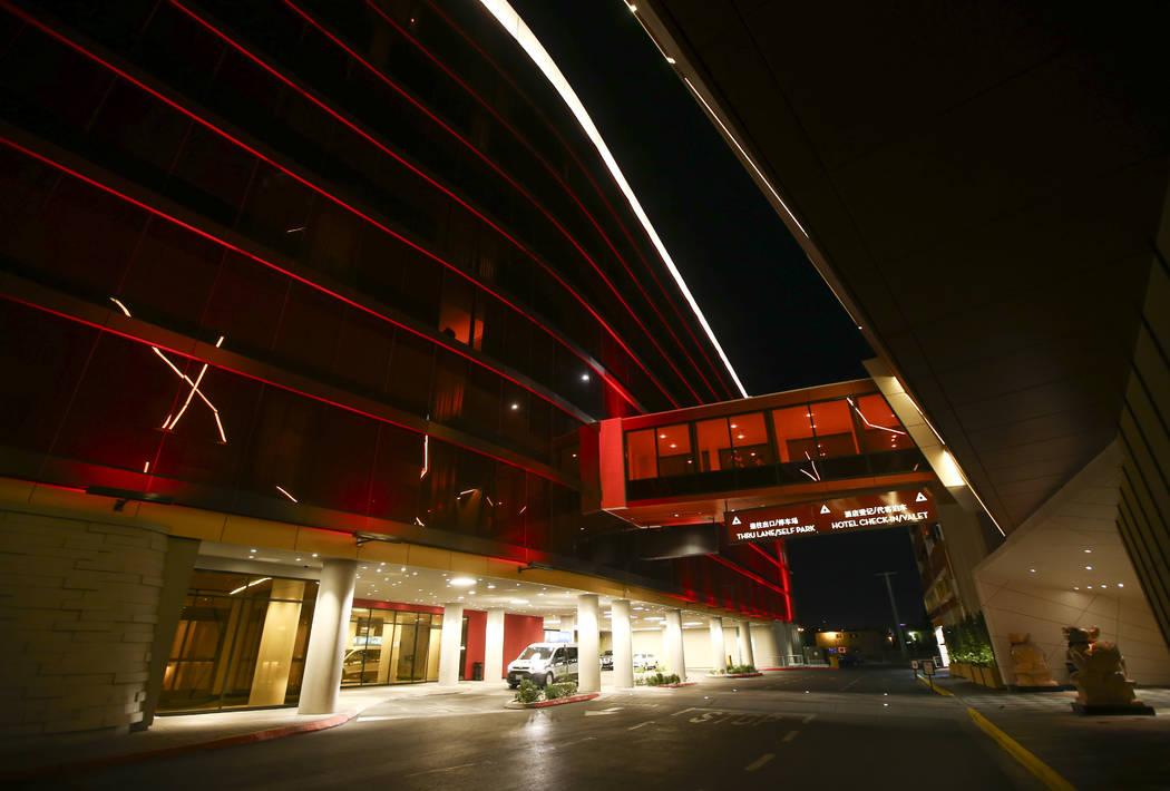 The hotel tower at the Lucky Dragon in Las Vegas on Sunday, Dec. 3, 2017. Chase Stevens Las Vegas Review-Journal @csstevensphoto