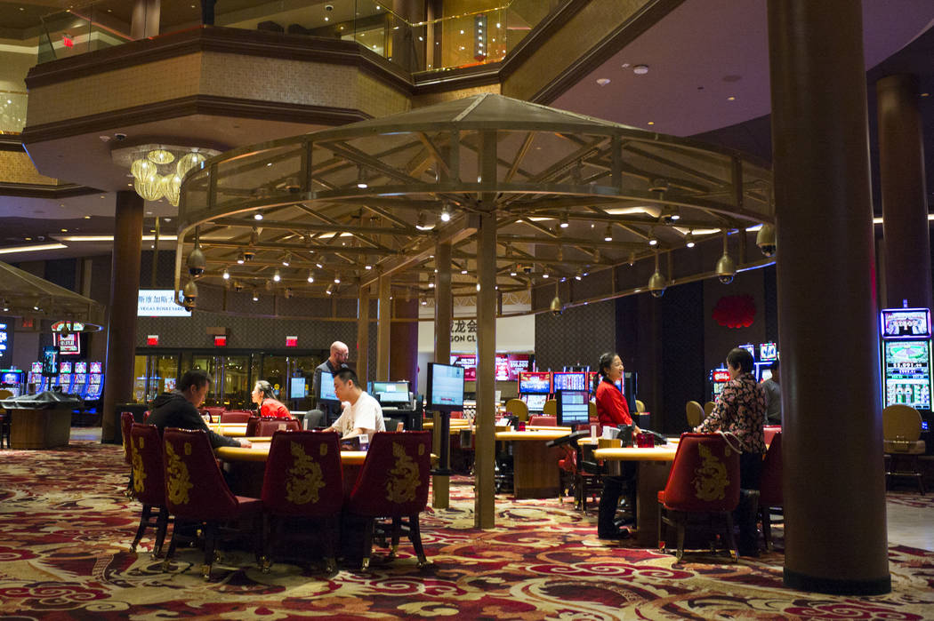 Table games during the 1-year anniversary of the Lucky Dragon in Las Vegas on Sunday, Dec. 3, 2017. Chase Stevens Las Vegas Review-Journal @csstevensphoto
