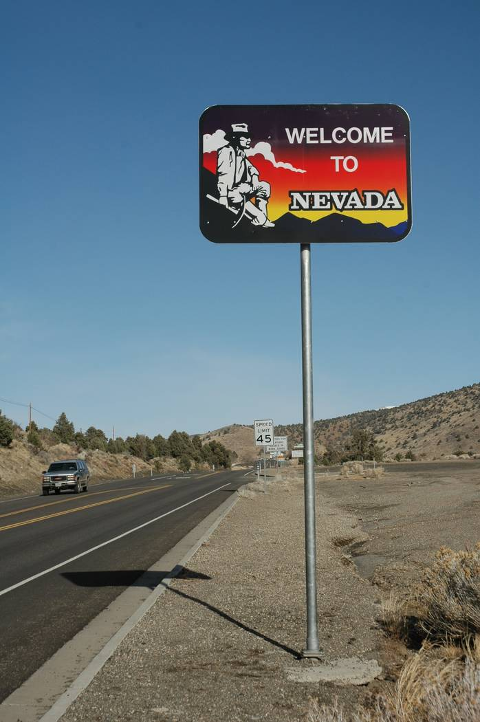 "Thirteen out f the 25 replaced ""Welcome to Nevada"" signs featured a miner. Many state residents expressed interest in the old signs. About 14,500 Nevadans entered the free raffle via phone, web si ..."
