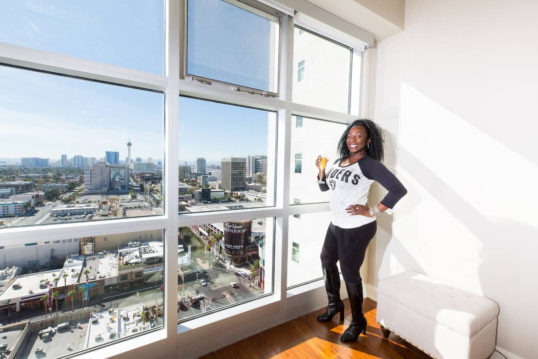 Indra Jones, an Oakland native, purchased a two-bedroom residence at The Ogden in downtown Las Vegas. (Mona Shield Payne The Ogden)