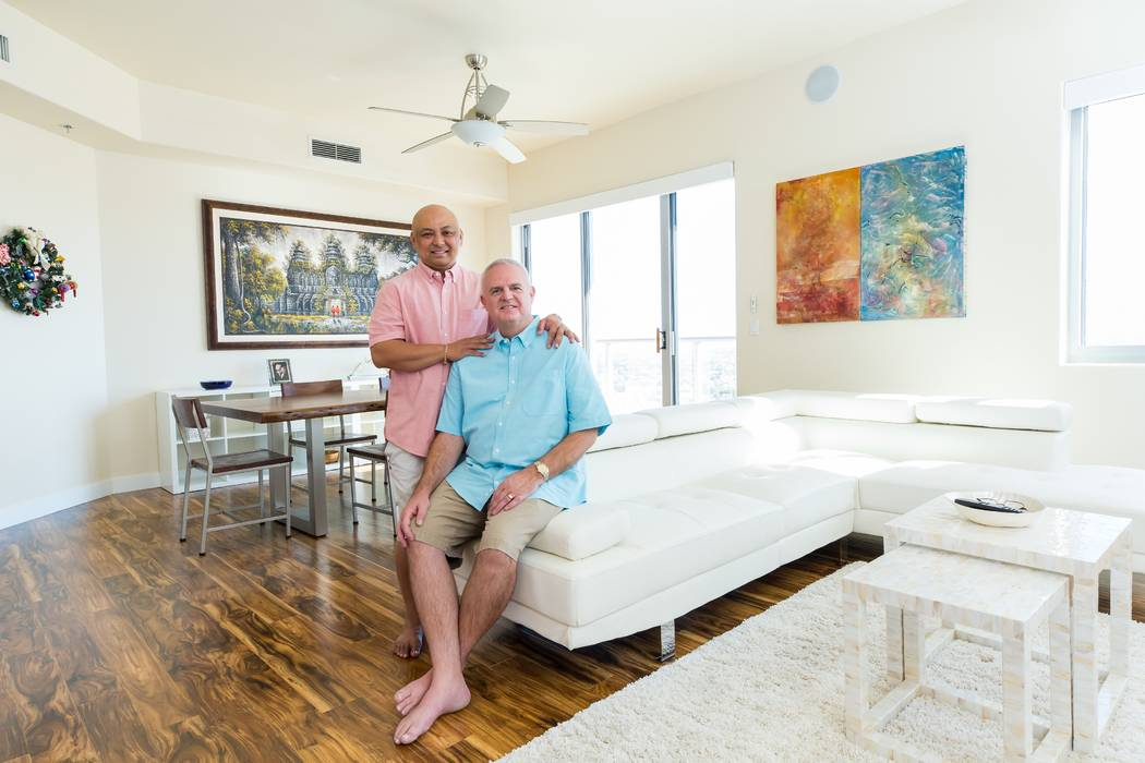 Walter Carnwright and Ariel Feir traded in their life in the Bay Area for luxury high-rise living at One Las Vegas. (Mona Shield Payne One Las Vegas)