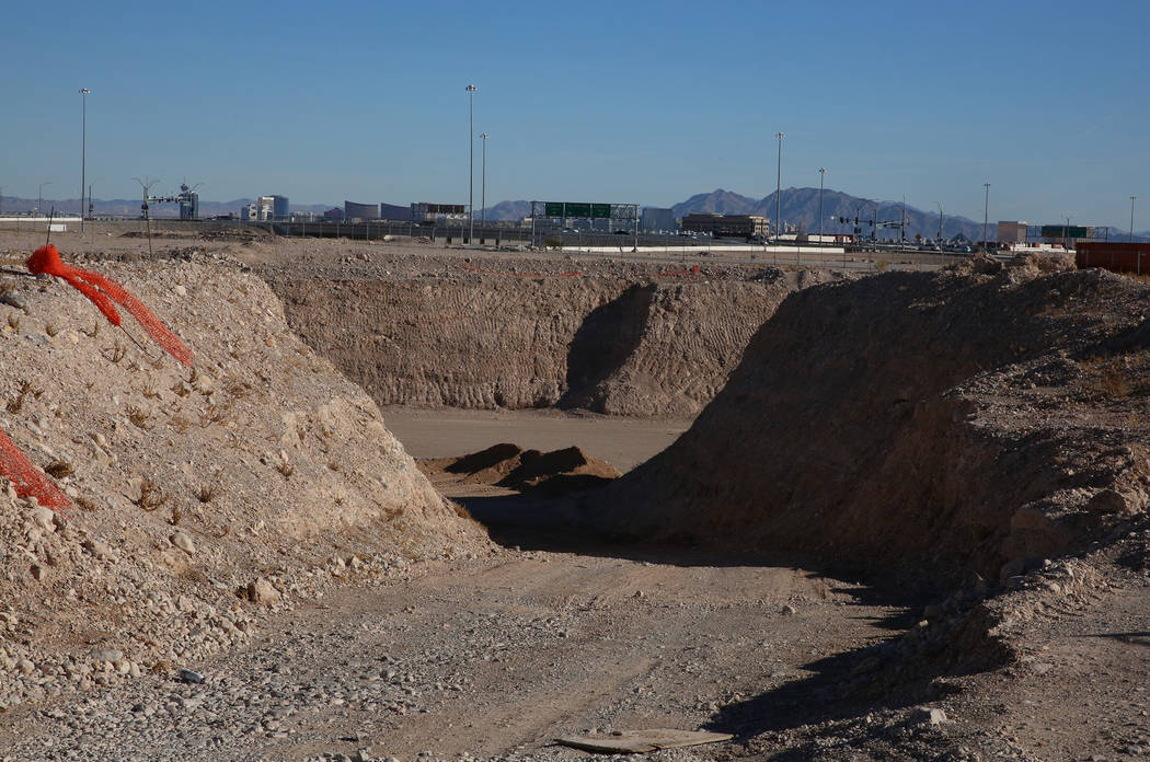 The construction site of a failed condo project at 8030 W. Maule Ave., on Tuesday, Nov. 28, 2017, in Las Vegas. Developers are looking to build a 608-unit apartment complex at the site. Bizuayehu  ...
