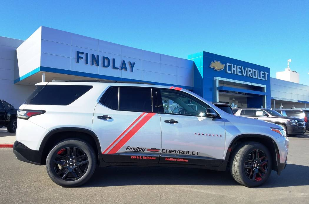 Findlay Chevrolet Findlay Chevrolet General Manager Doug Fleming secured a 2018 Traverse SUV to transport customers.