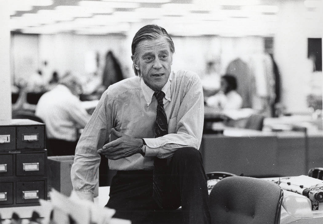 "Ben Bradlee is shown in an archival photo that's part of the HBO documentary  ""The Newspaperman: The Life and Times of Ben Bradlee."" photo: courtesy of HBO"