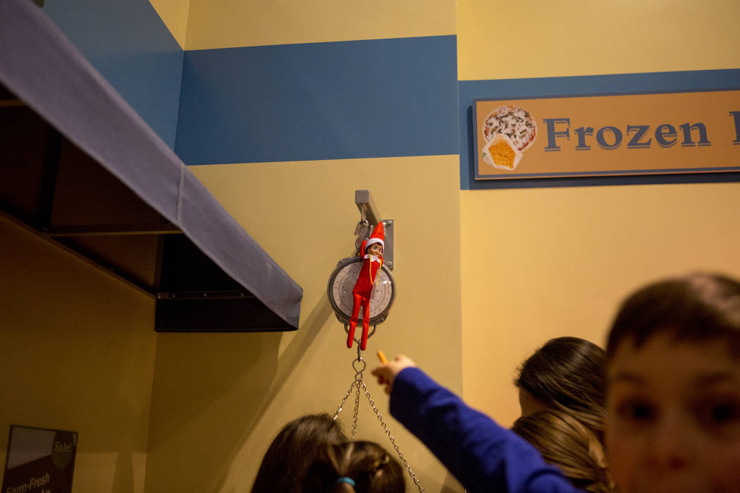 An Elf on the Shelf elf is found during the Elf Adventure at the Discovery Children's Museum in Las Vegas Dec. 3, 2017. Elizabeth Brumley Las Vegas Review-Journal @EliPagePhoto