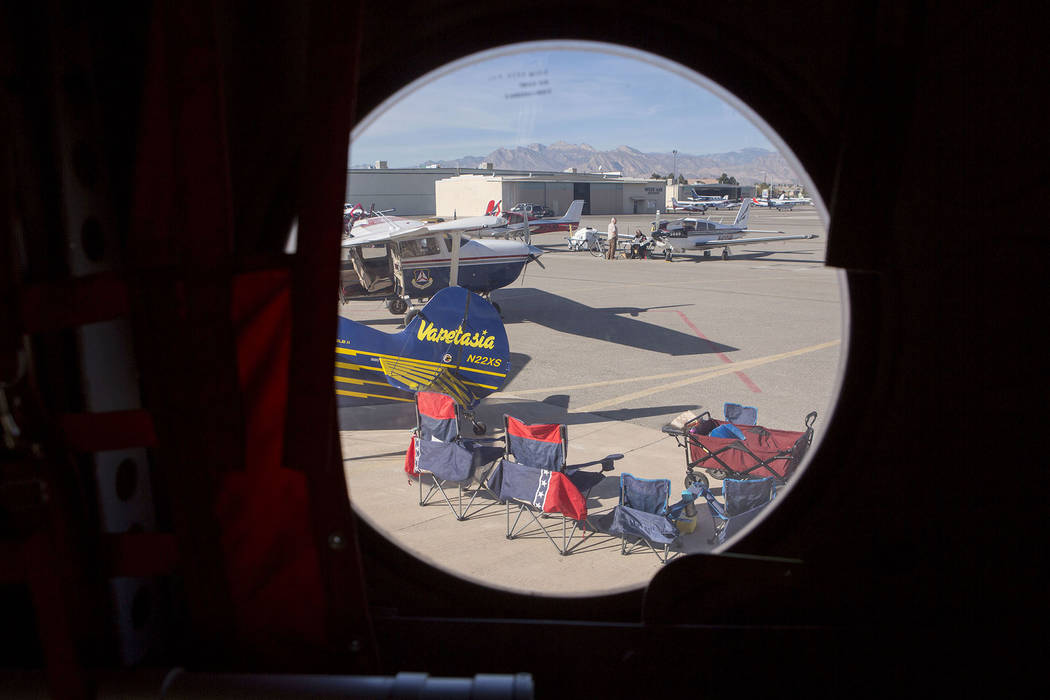 Air planes are on display at the Aviation Open House and Car Show at North Las Vegas Airport in North Las Vegas, Saturday, Dec. 2, 2017. Bridget Bennett Las Vegas Review-Journal