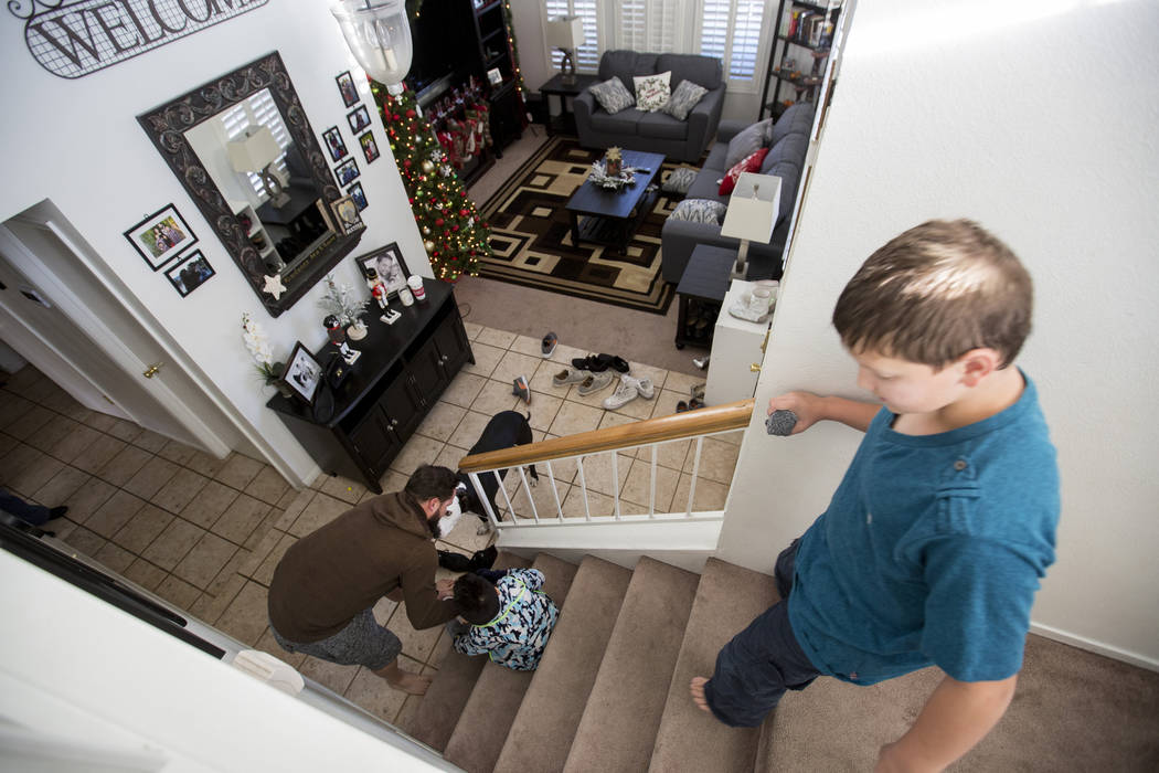 The King family gets ready for the day in their Las Vegas home Friday, Dec. 8, 2017. Elizabeth Brumley Las Vegas Review-Journal  @EliPagePhoto