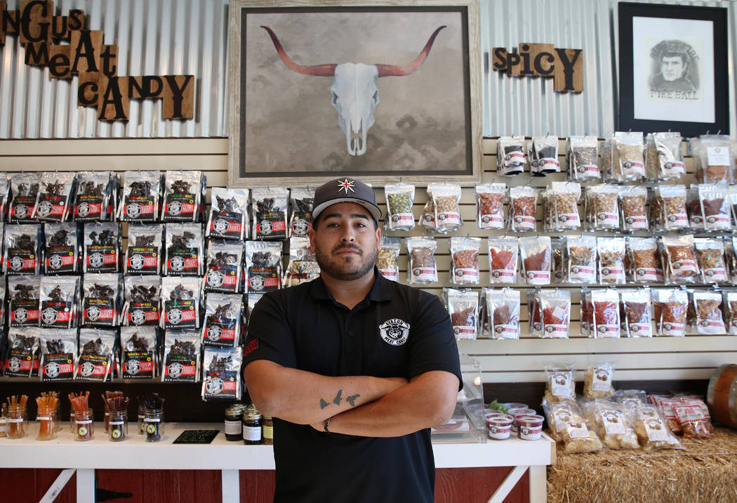 Jerry Martin, co-owner of Avalon Meat Candy, at his Las Vegas store on Friday, Dec. 1, 2017. Martin and other vendors from the Route 91 Harvest festival are still waiting to hear whether law enfor ...