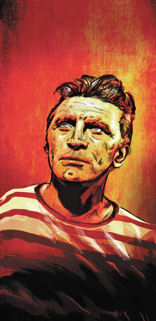 Kirk Douglas illustration. Severiano Galvan