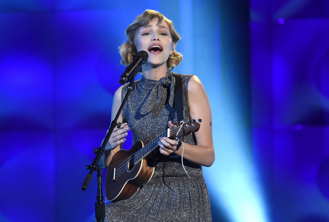 Grace VanderWaal performs at the Billboard Women in Music event at the Ray Dolby Ballroom on Thursday, Nov. 30, 2017, in Los Angeles. (Chris Pizzello/Invision/AP)