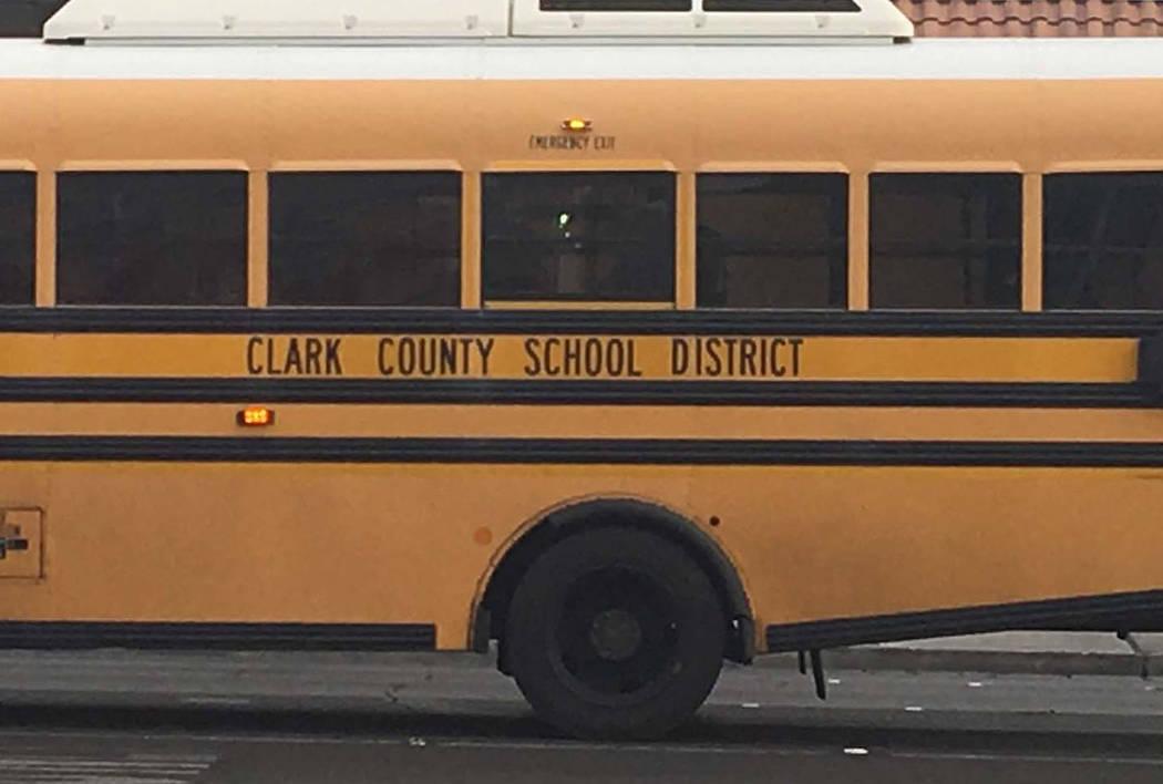 Clark County School District bus (Las Vegas Review-Journal)