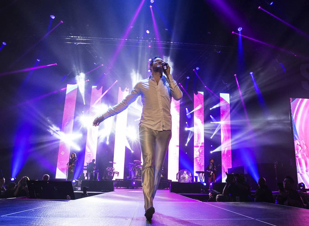 Imagine Dragons frontman Dan Reynolds performs during the Vegas Strong Benefit Concert at T-Mobile Arena on Friday, Dec. 1, 2017, in Las Vegas. Benjamin Hager Las Vegas Review-Journal @benjaminhphoto