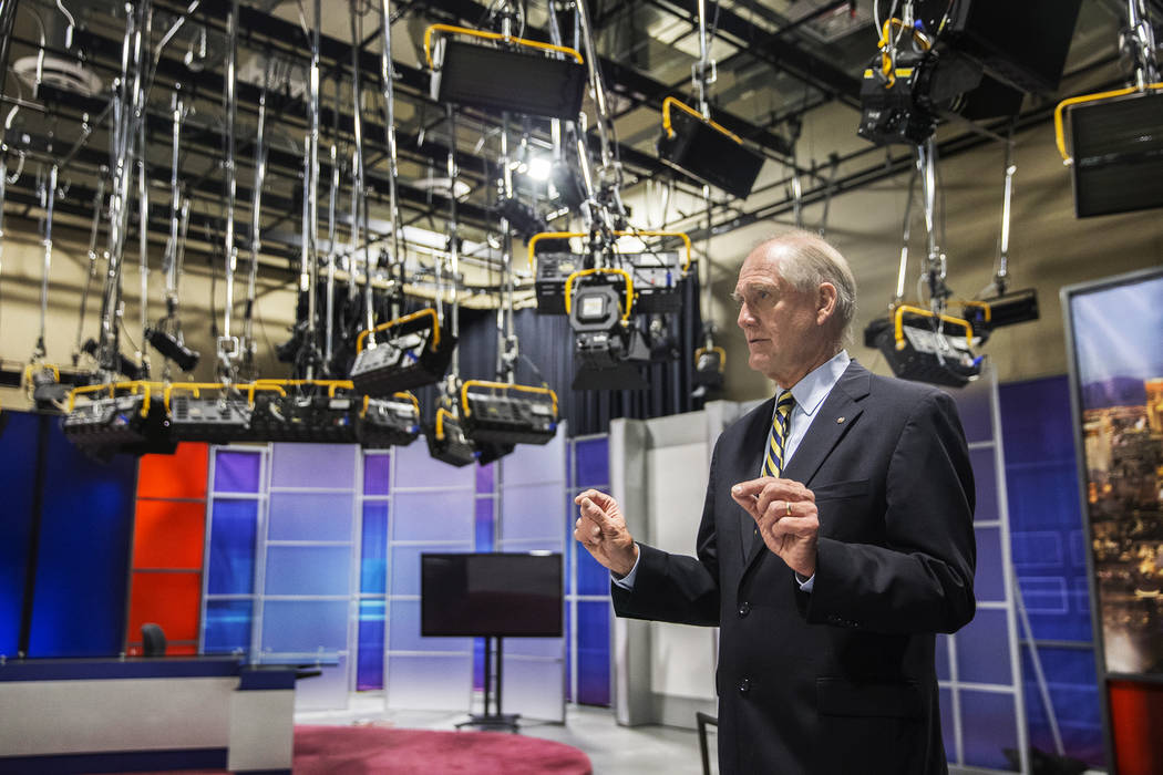 Vegas PBS general manager Tom Axtell discusses features of their studio on Wednesday, Nov. 29, 2017, at Vegas PBS, in Las Vegas. Benjamin Hager Las Vegas Review-Journal @benjaminhphoto