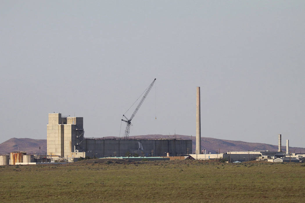 A structure is seen at the Hanford Nuclear Reservation in Richland, Wash., in May.  (AP Photo/Manuel Valdes, file)