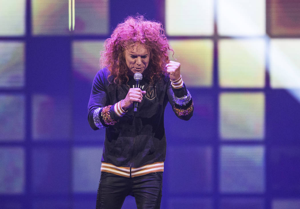 Carrot Top performs during the Vegas Strong Benefit Concert at T-Mobile Arena on Friday, Dec. 1, 2017, in Las Vegas. Benjamin Hager Las Vegas Review-Journal @benjaminhphoto