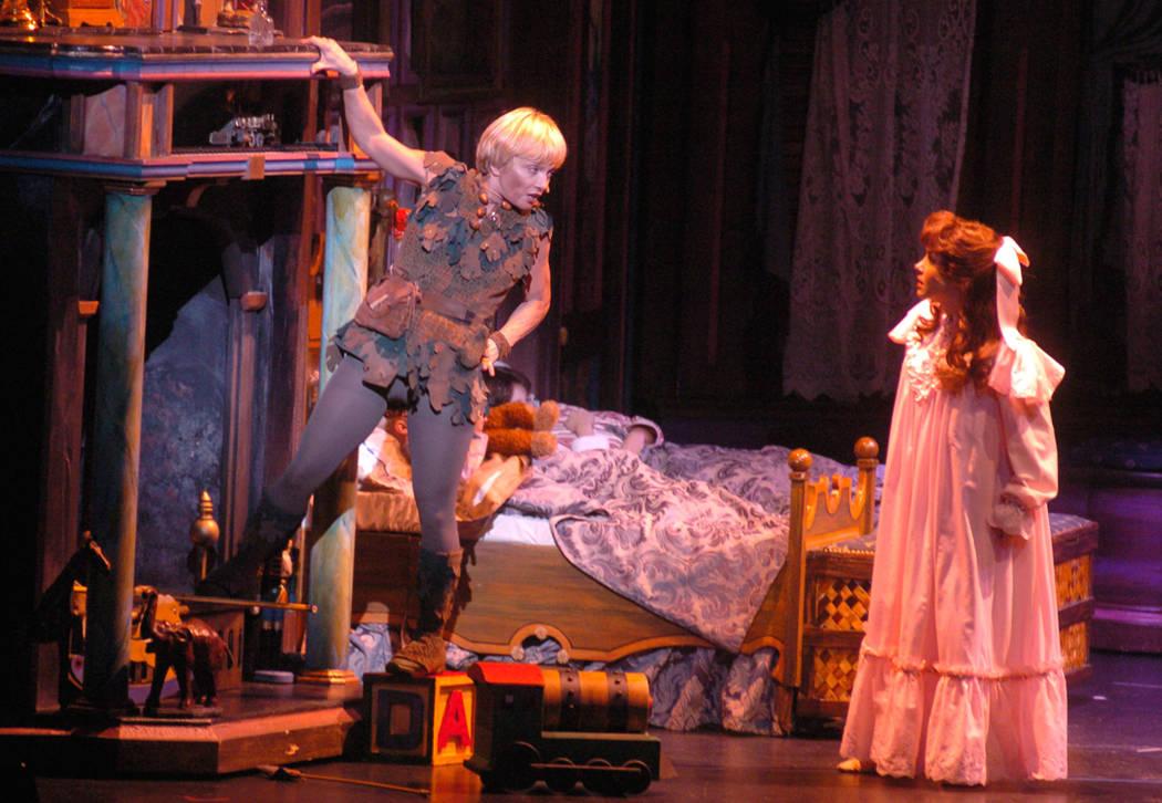"""Las Vegas News Bureau """"Peter Pan"""" at cashman center 10/20/04 Cashman Center Cathy Rigby 10/20/2004"""