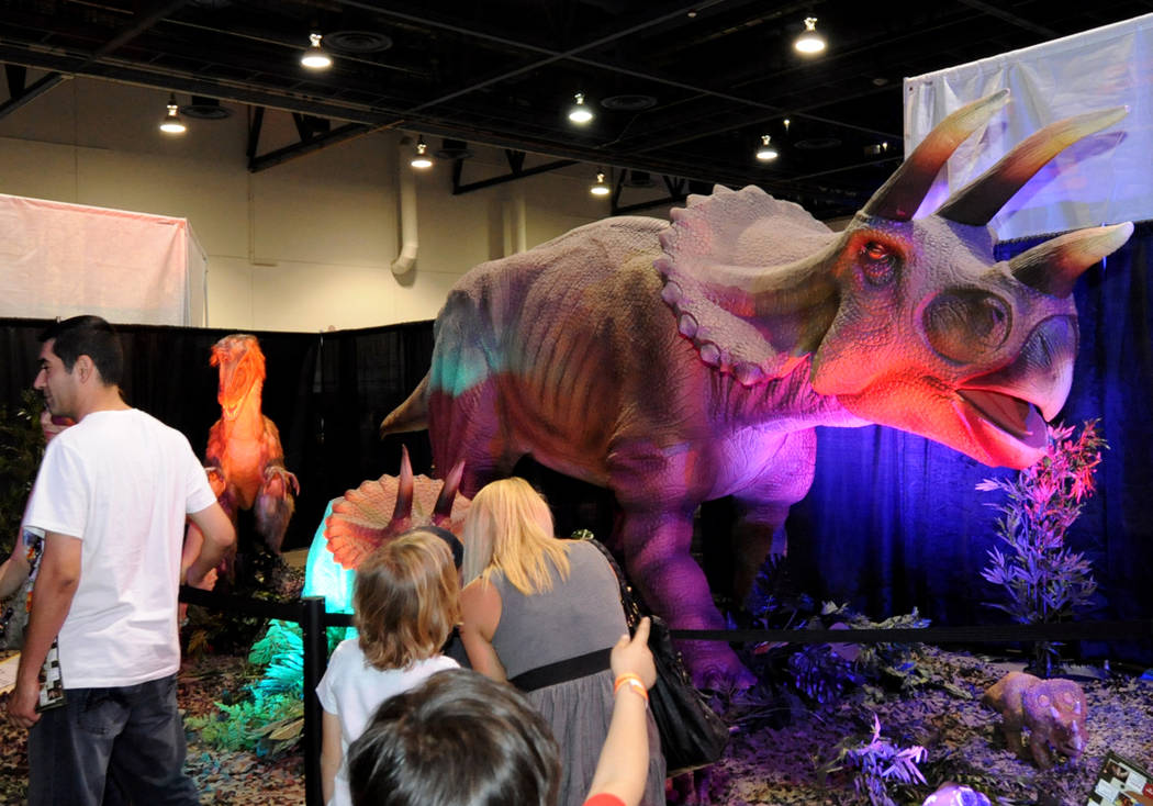 4/13/13: Discover the Dinosaurs Show at Cashman Center. (Photo by Glenn Pinkerton/Las Vegas News Bureau)