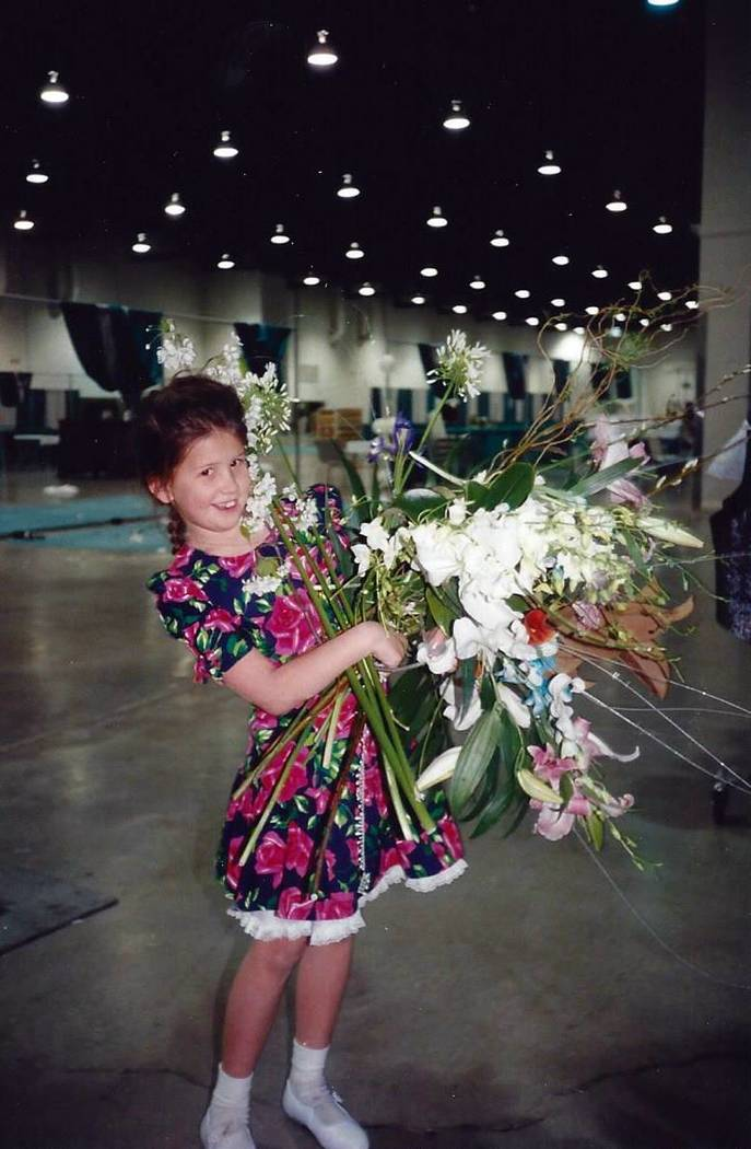 Bridal Spectacular vice president Laura Covington remembers when, as a little girl, she would make bouquets from flowers thrown away during the Cashman Center events. (Laura Covington/Bridal Spect ...