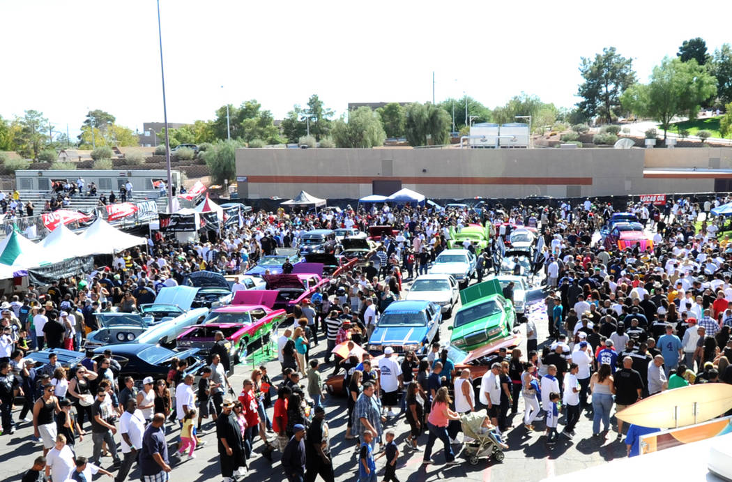 10/14/12: GoLo Lowrider Super Show 2012 at Cashman Center in Las Vegas brings out a crowd from across the country to see the latest in the lowrider car culture. The event includes outdoor car exhi ...