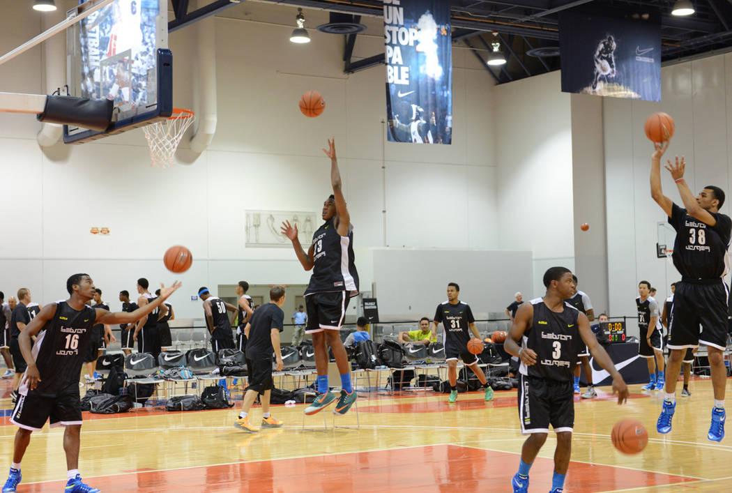 LeBron James Skills Academy at Cashman Center in Las Vegas. 7-9-14. Darrin Bush photo.|Las Vegas News Bureau
