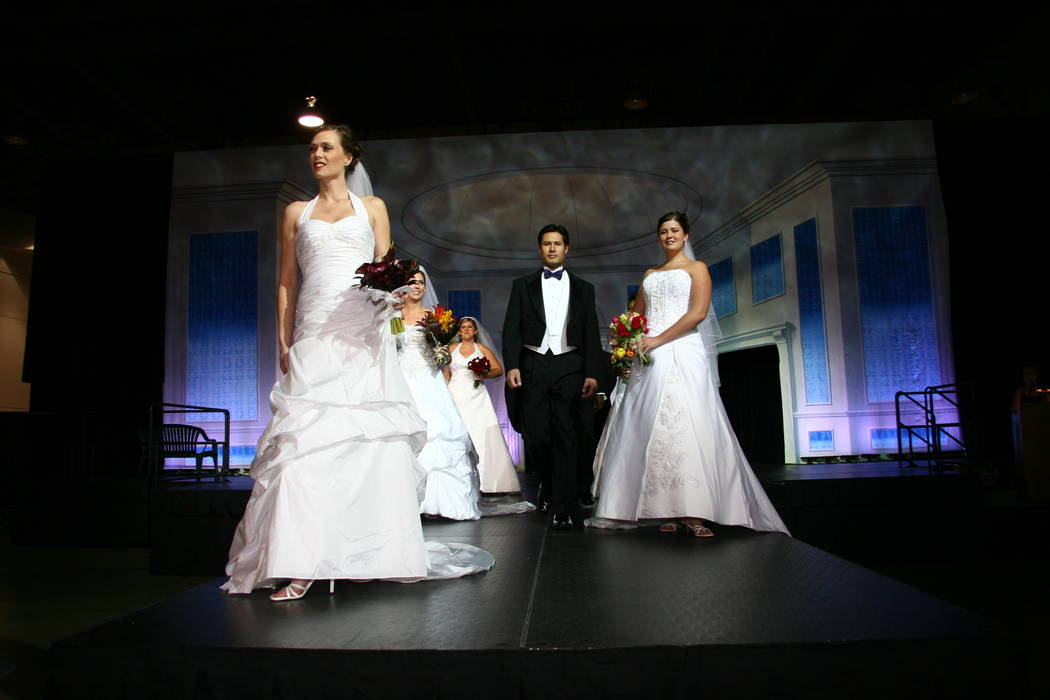 Laura Covington/Bridal Spectacular One of the 52 Bridal Spectaculars staged at Cashman Center over a 26-year period.