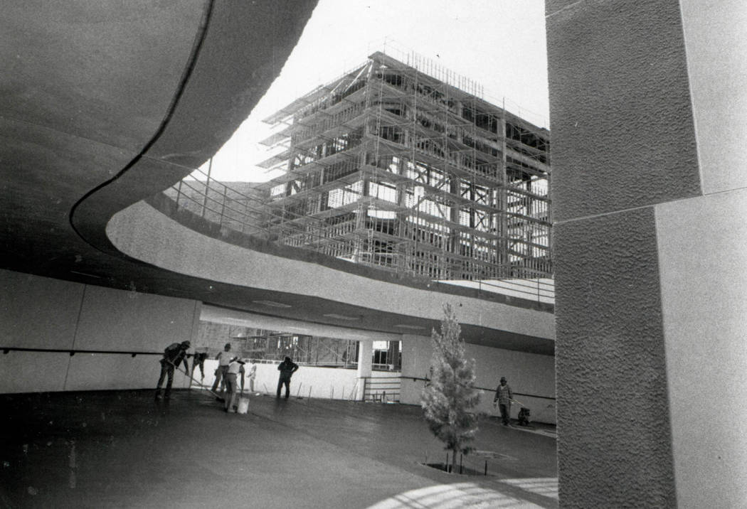 CASHMAN FIELD  - March 23, 1983  Cashman Field construction. (File Photo)