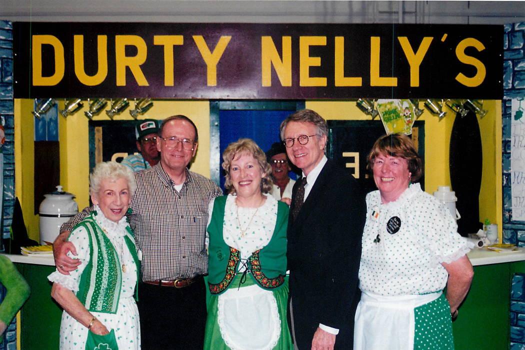 Sens. Richard Bryan and Harry Reid join International Food Festival participants at Cashman Center - May 18, 1999  Lion Dancers at Cashman. (File Photo/Las Vegas Review - Journal)