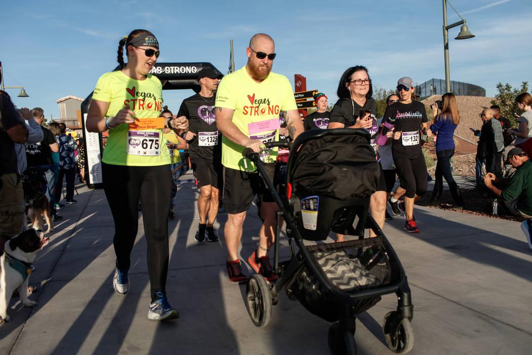 Runners take off at the start of the Vegas Strong 5K/1Mat Craig Ranch Regional Park in North Las Vegas, Saturday, Dec. 2, 2017. Joel Angel Juarez Las Vegas Review-Journal @jajuarezphoto