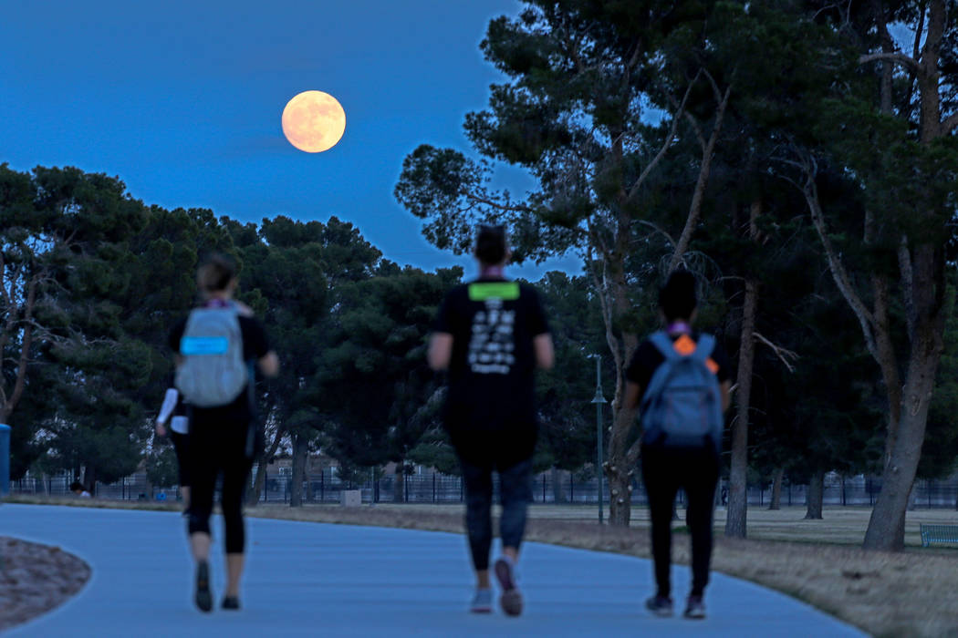 Runners head home after completing the Vegas Strong 5K and 1M run at Craig Ranch Regional Park in North Las Vegas, Saturday, Dec. 2, 2017. Joel Angel Juarez Las Vegas Review-Journal @jajuarezphoto