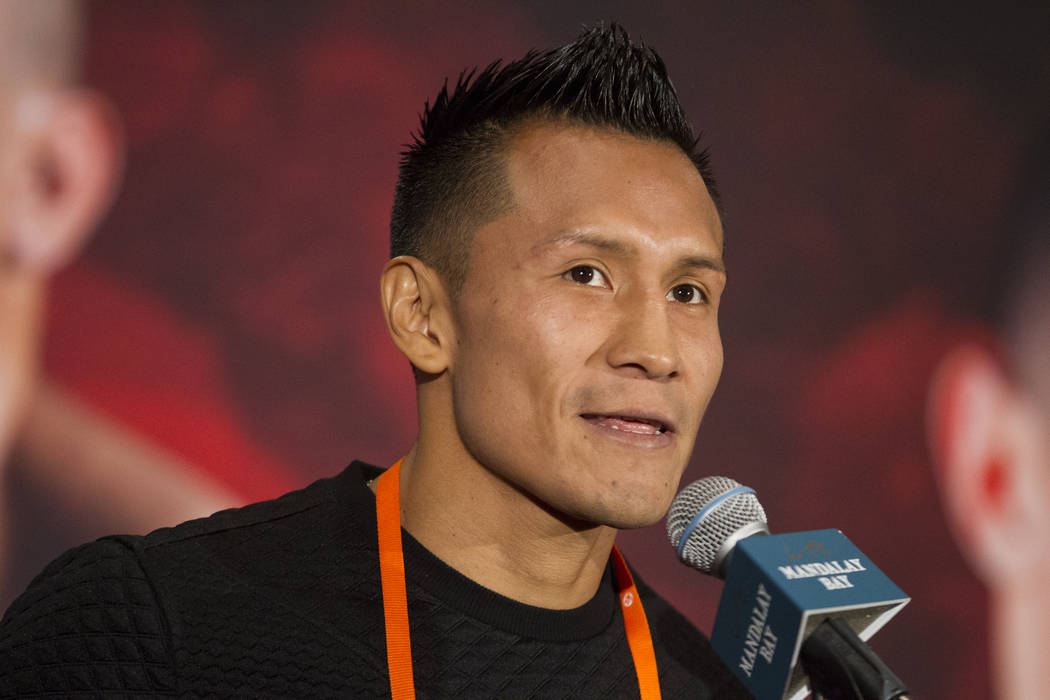 Francisco Vargas during a boxing press conference at the Mandalay Bay Events Center in Las Vegas, Thursday, Dec. 7, 2017. Erik Verduzco Las Vegas Review-Journal