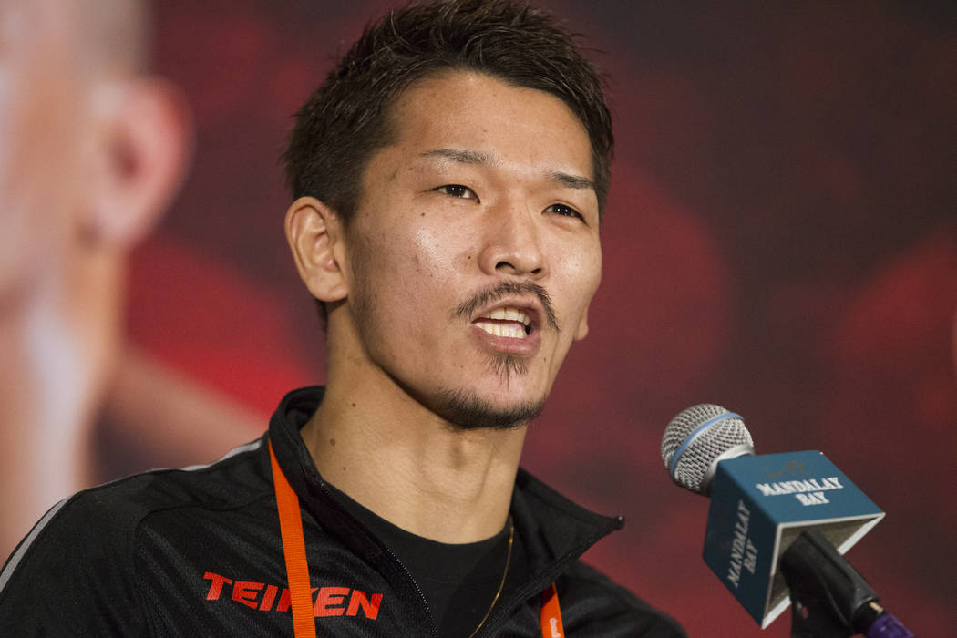 Kenichi Ogawa during a boxing press conference at the Mandalay Bay Events Center in Las Vegas, Thursday, Dec. 7, 2017. Erik Verduzco Las Vegas Review-Journal