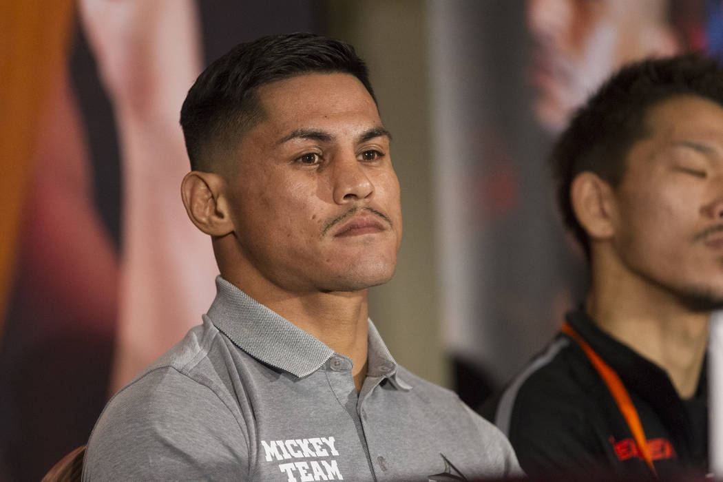 Miguel Roman during a boxing press conference at the Mandalay Bay Events Center in Las Vegas, Thursday, Dec. 7, 2017. Erik Verduzco Las Vegas Review-Journal