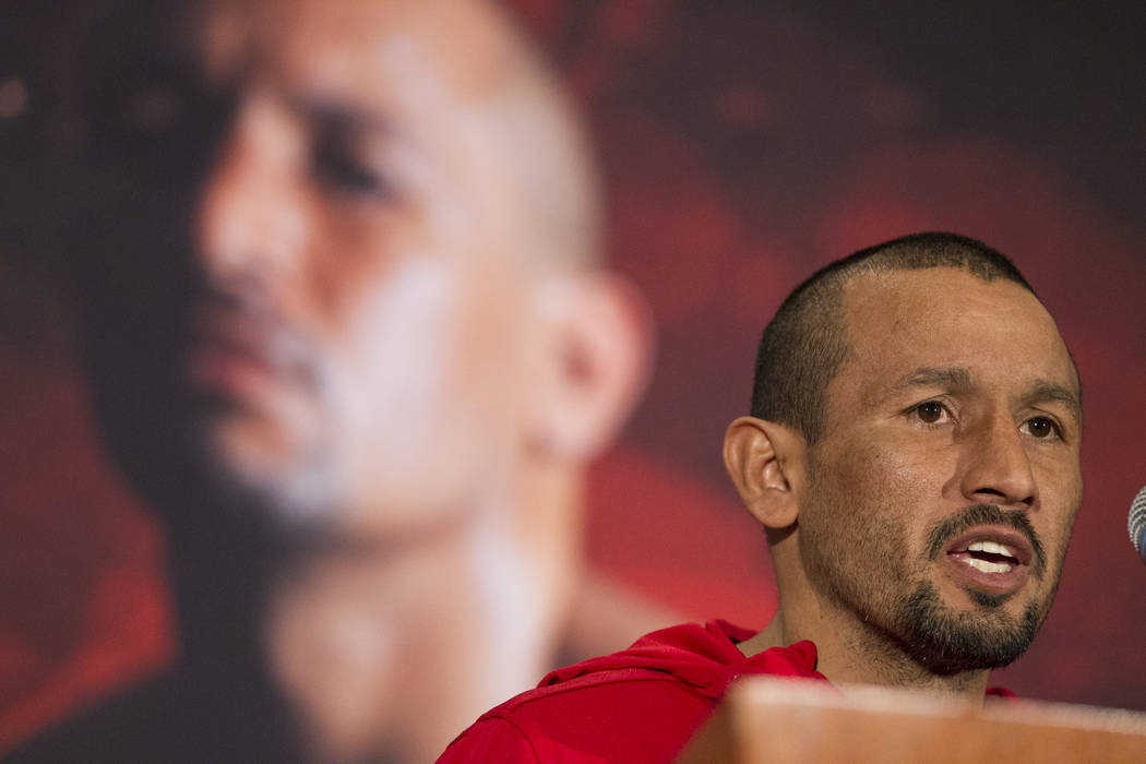 Orlando Salido during a boxing press conference at the Mandalay Bay Events Center in Las Vegas, Thursday, Dec. 7, 2017. Erik Verduzco Las Vegas Review-Journal
