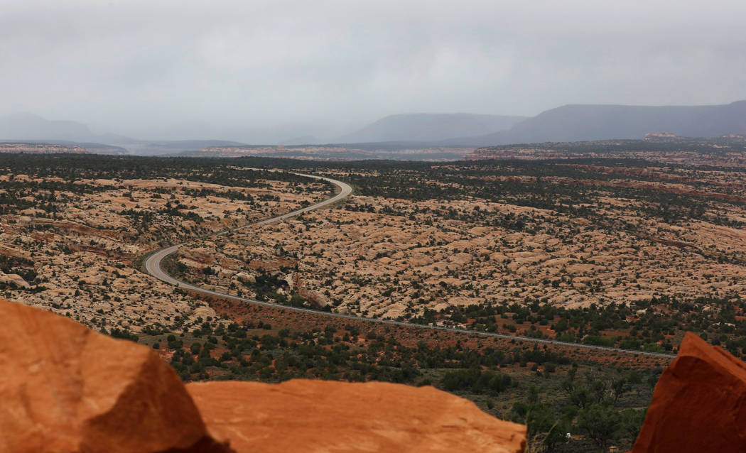 Highway 95 runs through Bears Ears National Monument in the Four Corners region, in Utah, U.S. May 17, 2017. REUTERS/Bob Strong