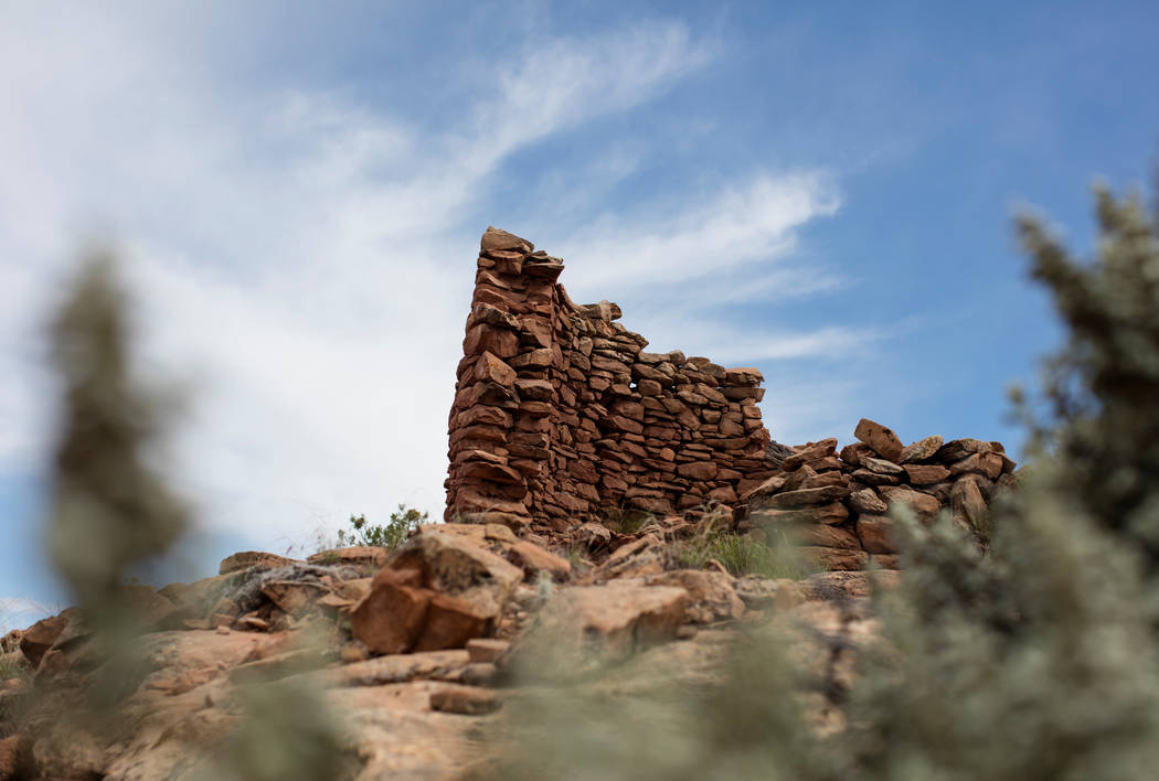 A 13th century masonry structure at an Ancestral Puebloan archaeological site know as Cave Towers is seen in Bears Ears National Monument in the Four Corners region Utah