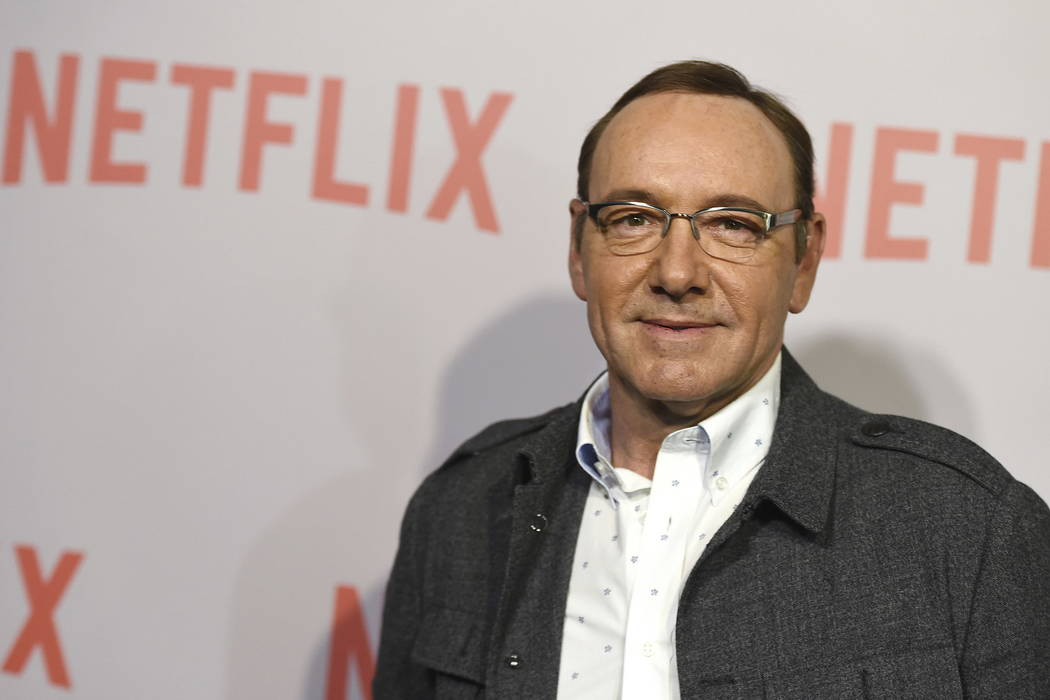 """Kevin Spacey arrives at the Q&A Screening of """"The House Of Cards"""" at the Samuel Goldwyn Theater in Beverly Hills, Calif., in 2015. (Jordan Strauss/Invision/AP, File)"""