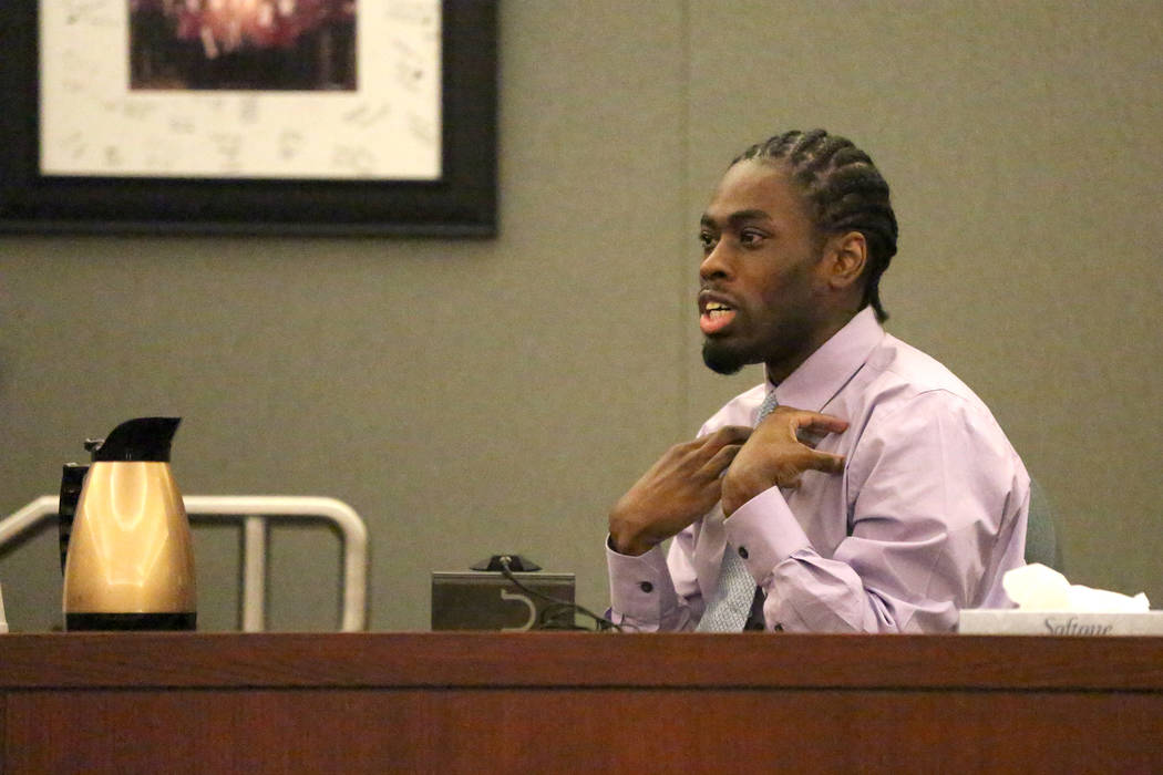 Bryan Clay, convicted of raping and murdering a mother and her 10-year-old daughter, makes an emotional plea to the jury during the penalty phase of his trial at the Regional Justice Center in Las ...